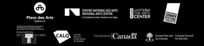 Logos partenaires (Groupe CNW/Place des Arts)