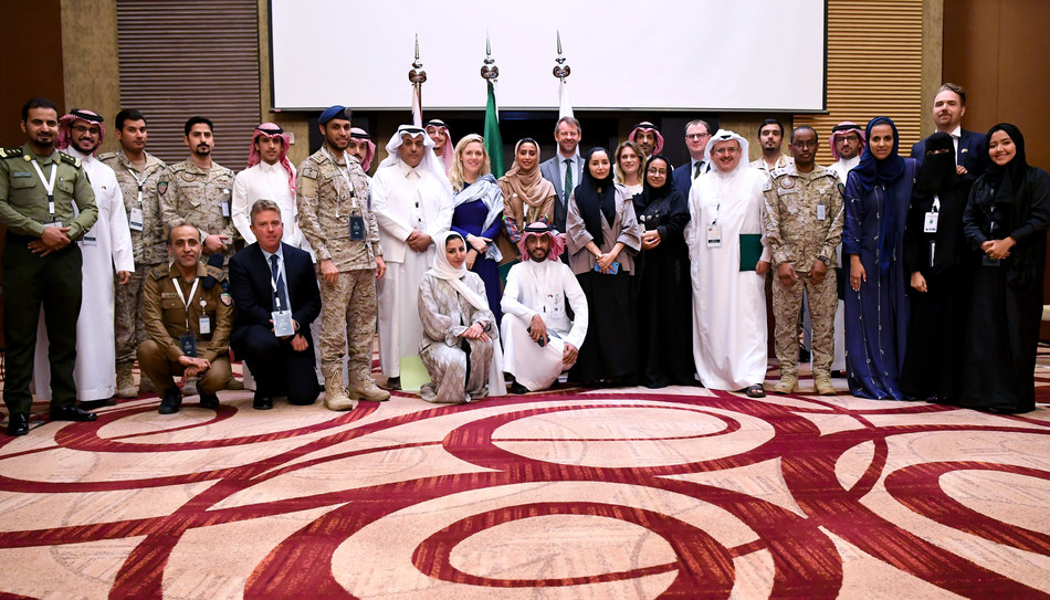 Participants from Saudi and UK government ministries and agencies at the 1st KSA-UK Workshop on Stabilisation, Riyadh, Saudi Arabia (14 Nov 2019)