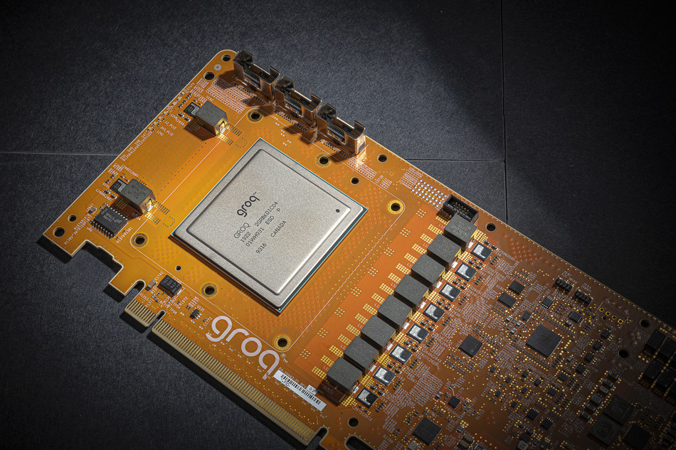 Groq's PetaOp-capable architecture was used to create the Tensor Streaming Processor shown on this PCIe board which is currently being tested by customers