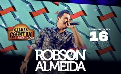 Atração confirmada no Caldas Country, cantor goiano Robson Almeida lança novo trabalho neste mês