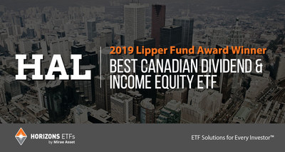 Horizons ETFs wins Five Lipper Fund Awards (CNW Group/Horizons ETFs Management (Canada) Inc.)