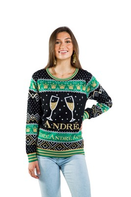 'André® Champagne has partnered with Tipsy Elves to bring the cheer to your next holiday 'par-tay' with limited-edition holiday ugly sweaters, onesies and fanny packs'