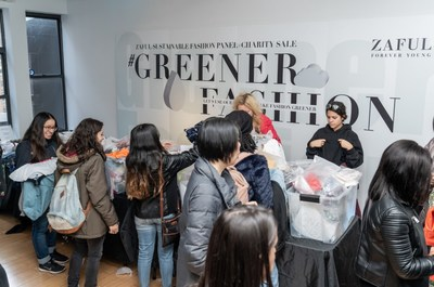 ZAFUL Sustainable Fashion Panel-Charity sale: 1300 pieces of clothing were donated for co-organizing a charity auction with Fashion Foundation
