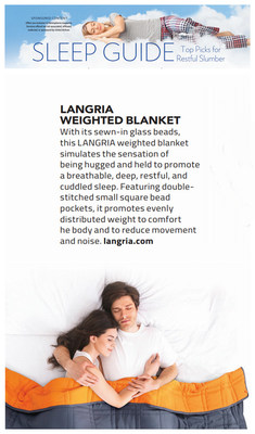 United Airlines published SLEEP GUIDE in its October in-flight magazine, and the leading home furnishing brand LANGRIA was selected.
