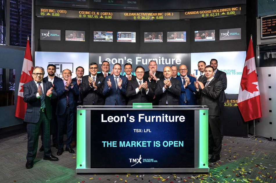 Leon's Furniture Limited Opens the Market (CNW Group/TMX Group Limited)