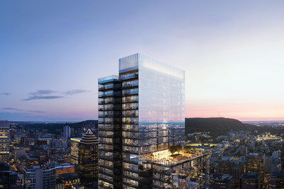 Rendering: 1 Square Phillips – Montreal's Tallest Residential Tower (CNW Group/Brivia Group)