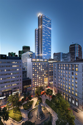 Rendering: 1 Square Phillips - The architecture of the 1 Square Phillips is signed by Menkes Shooner Dagenais Letourneau Architects (MSDL) in collaboration with Hill West Architects of New York (CNW Group/Brivia Group)