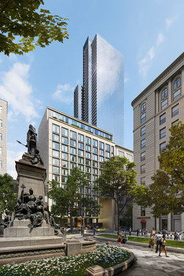 Rendering: 1 Square Phillips - Inspired by historic Square Phillips that commemorates Edward VII as it intersects with modern-day Montreal (CNW Group/Brivia Group)
