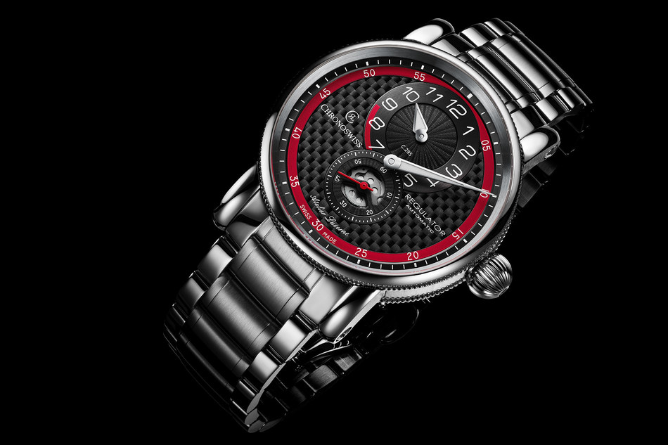 Inspired by motor sport: the Regulator Classic Carbon Racer, a new mechanical timepiece by Chronoswiss
