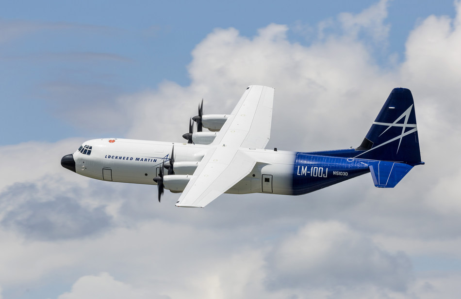 Lockheed Martin's LM-100J commercial freighter received its type design update certification from the Federal Aviation Administration, which allows it to operate from any commercial airfield in the world.