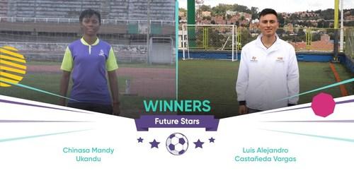 Future Stars winners, Chinasa Ukandu from Nigeria and Luis Castaneda from Colombia