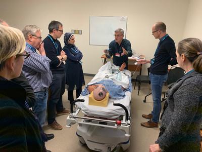 La 12e édition de la Journée de formation interdisciplinaire de la Fédération des médecins spécialistes du Québec a offert des séances de formation et des activités de simulation à près de 1000 participants. (Groupe CNW/Fédération des médecins spécialistes du Québec)