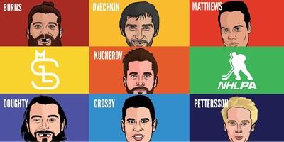 Some of the top NHLPA stars available from Major League Socks (CNW Group/Major League Socks)