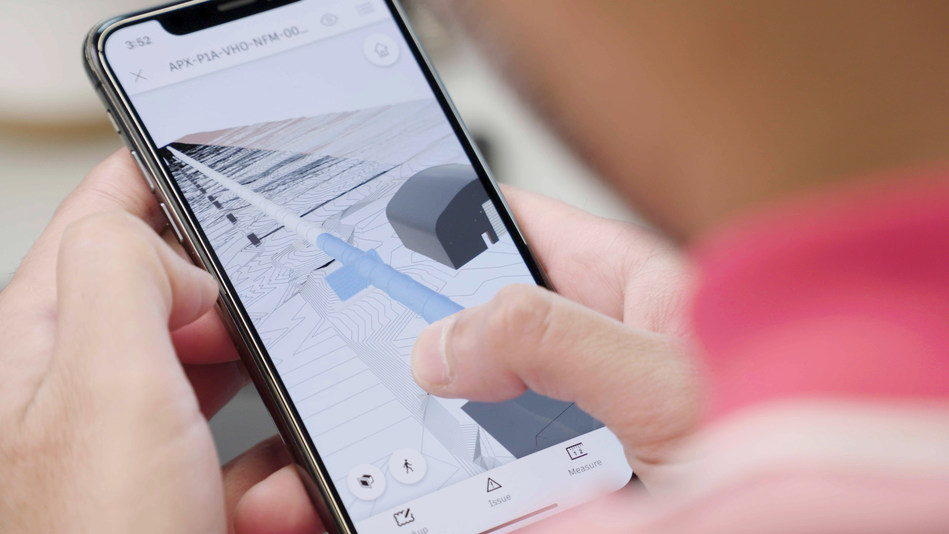 Virgin Hyperloop One demonstrates the use of Autodesk BIM 360 project delivery platform mobile app.