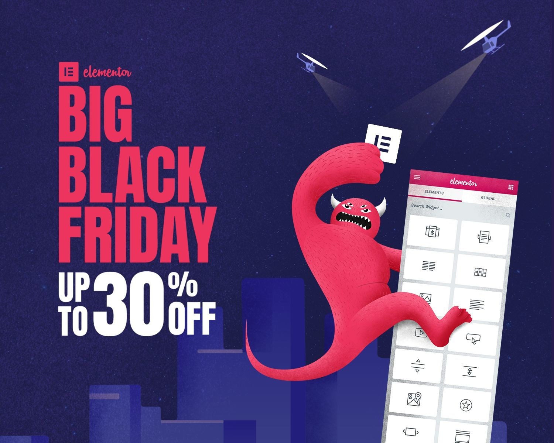 Elementor Offers Massive Black Friday Discounts