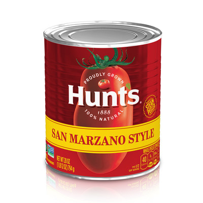 Hunt's is bringing the sweet flavor of a prized tomato variety home with the introduction of new San Marzano Style tomatoes. Available in three flavors, new Hunt's San Marzano Style tomatoes are the perfect starter for your homemade pasta sauces and Italian dishes.