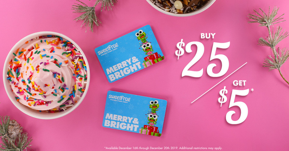 Holiday Gift Guide Sweetfrog Gift Card Deals