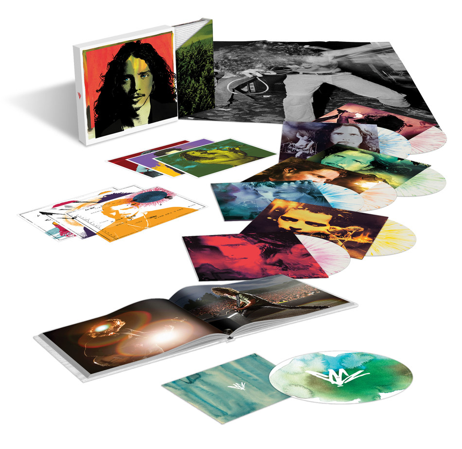 Due to overwhelming demand for the 2018 pressing of the original box set collection, fans now have another chance to celebrate the recorded legacy of musical icon and singer/songwriter Chris Cornell, with a limited-edition color vinyl of the Chris Cornell Super Deluxe LP box set on November 22.  The box set will be re-released by Cornell's wife, Vicky Cornell on behalf of The Chris Cornell Estate through UMe, and available exclusively via the Chris Cornell official store.
