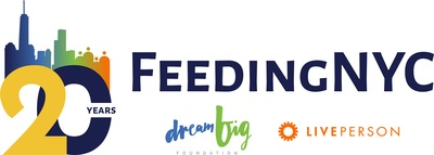 FeedingNYC is an annual charity event sponsored by the Dream Big Foundation, a nonprofit conceived in the aftermath of 9/11 when employees and friends of LivePerson assembled and hand delivered turkey dinners to disadvantaged families around New York City for Thanksgiving. The project, which began in 2001 serving just 40 families, has grown to deliver meals to more than 80,000 families throughout the five boroughs. Please visit www.feedingnyc.org to learn how to get involved. (PRNewsfoto/FeedingNYC)