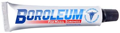 Boroleum Ointment, the Gold Standard in healing people who have red, sore noses since 1906.