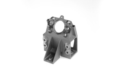 The production process to create this aerospace bracket in seven steps integrates additive technologies, traditional metal technologies and innovative software solutions to achieve high-quality, repeatable parts at an optimized cost per part.