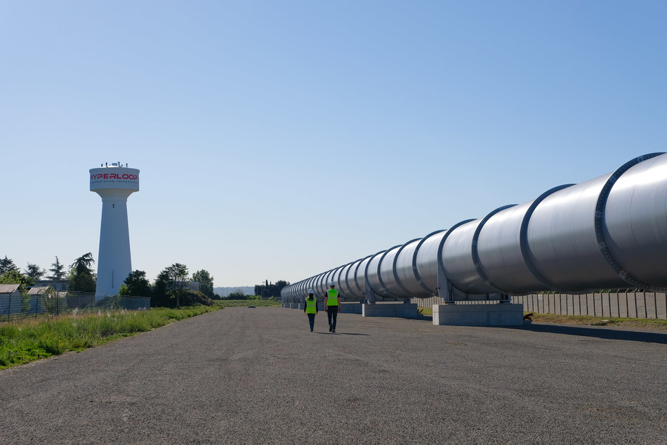 HyperloopTT full-scale system in Toulouse, France