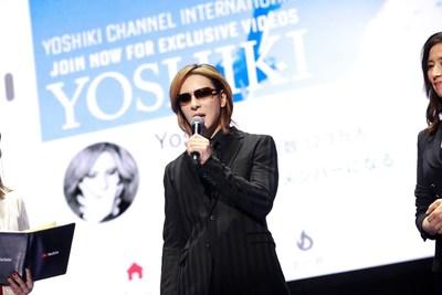YOSHIKI speaking at YouTube's Brandcast Japan 2019 (PRNewsfoto/YOSHIKI)
