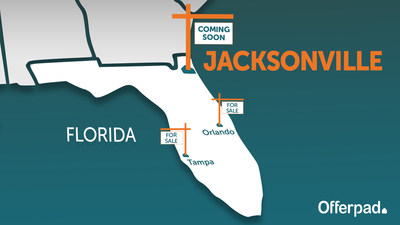 Jacksonville becomes Offerpad's third Florida market. After opening in Northeast Florida, Offerpad's real estate solutions will be available to residents of over 200 Florida cities.