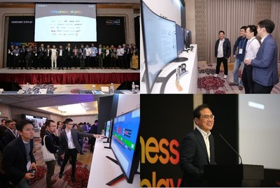 The Samsung Display team at the Samsung Curved Forum 2019, taking place at the Grand Mayfull Hotel Taipei on 14th November. Hyohak Nam, Executive Vice President, Large Display Business, Samsung Display gave a speech.