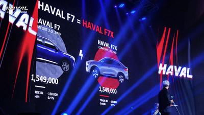 El Haval F7x fue lanzado en el mercado ruso (PRNewsfoto/Haval)