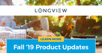 Longview's Fall '19 Release Embraces Three Connected Finance Trends That Are Driving Change: Cloud Efficiency, UX and Automation