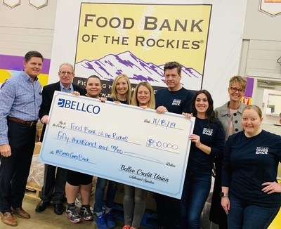 Bellco Credit Union presents Food Bank of the Rockies with $50,000 to feed 200,000 in Colorado who struggle with hunger.