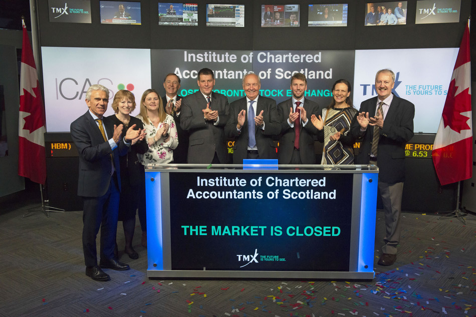 Institute of Chartered Accountants of Scotland (ICAS) Closes the Market (CNW Group/TMX Group Limited)