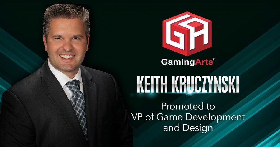 Gaming Arts Keith Krucyznski Promoted to VP of Gaming Development and Design