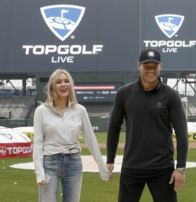 Colton and Cassie at Topgolf Live at Oracle Park on Nov. 7
