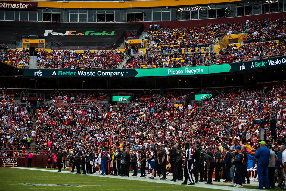 RTS encourages recycling awareness as part of their sustainability partnership with FedExField.