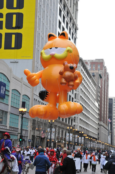 The Chicago Thanksgiving Parade has developed into a full-scale spectacle that celebrates the holiday season. With 20 talented marching bands, 13 festival floats including Garfield! You'll see 16 staged theatrical performances, 11 equestrian groups, 18 cultural groups, inflatables, celebrity guests and more.