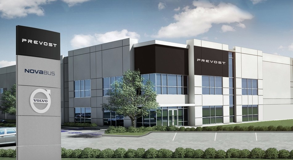 Prevost celebrates the opening of its largest service center in North America (CNW Group/Prevost)