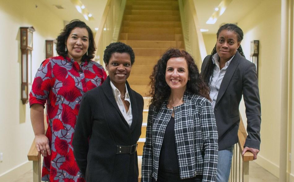 Portfolia's Rising America lead partners (left to right): Noramay Cadena, Lorine Pendleton, Juliana Garaizar, Karen Kerr.