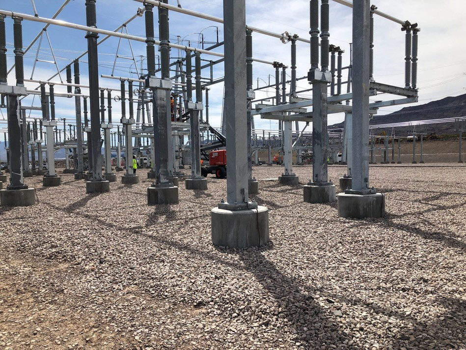 The GridLiance 230-kV Sloan Canyon Switching Station, located approximately 40-miles outside of Las Vegas in Boulder City, Nevada was officially commissioned today.
