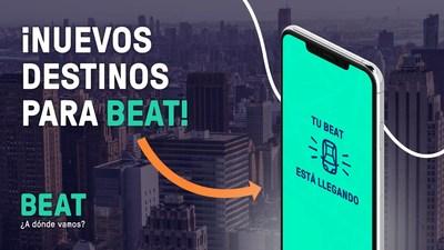Beat continúa su rápido crecimiento en Latinoamérica, al iniciar operaciones en 9 nuevas ciudades