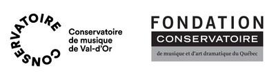 Logos du conservatoire de musique de Val-d'Or et de la Fondation du Conservatoire de musique et d'art dramatique du Québec (Groupe CNW/Conservatoire de musique et d'art dramatique du Québec)