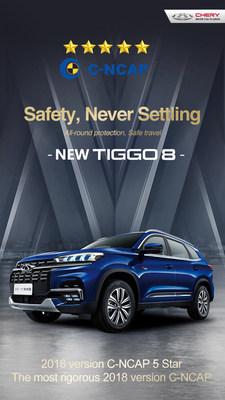 El nuevo Tiggo8 de Chery obtiene una certificación de seguridad de cinco estrellas de parte del C-NCAP (PRNewsfoto/Xinhua Silk Road Information Se)