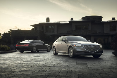The new front and rear design of the 2020 Genesis G90 premium luxury sedan.