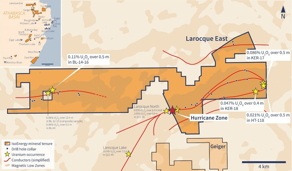 Figure 1 –Larocque East Property Map (CNW Group/IsoEnergy Ltd.)