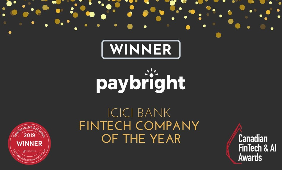 Fintech company of the year (CNW Group/PayBright)