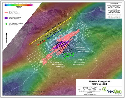 Figure 5: Arrow Deposit Drill Hole Locations (CNW Group/NexGen Energy Ltd.)