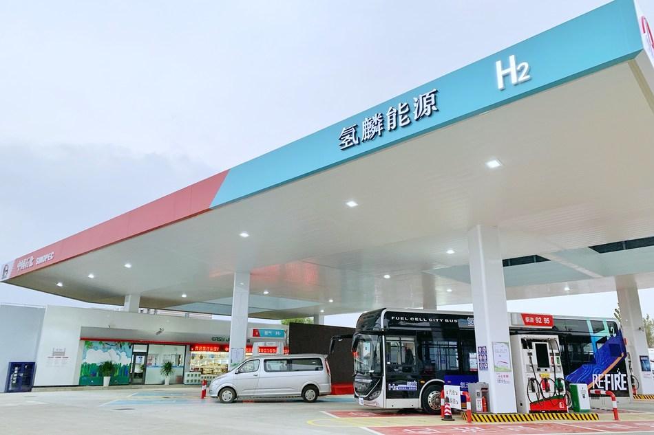 Sinopec and Air Liquide Inaugurate Two Hydrogen Stations in Shanghai. (PRNewsfoto/Sinopec)