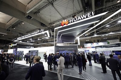 En el SCEWC, Huawei exhibió sus soluciones para ciudad inteligente más recientes (PRNewsfoto/Huawei)
