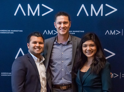 CLU Marketing Team (L to R): Arbazz Nizami, Joe Sallustio, Rina Dakanay. Photo courtesy of AMA/Mark Campbell